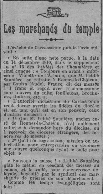 Le XIXe Siecle, 11 02 1911