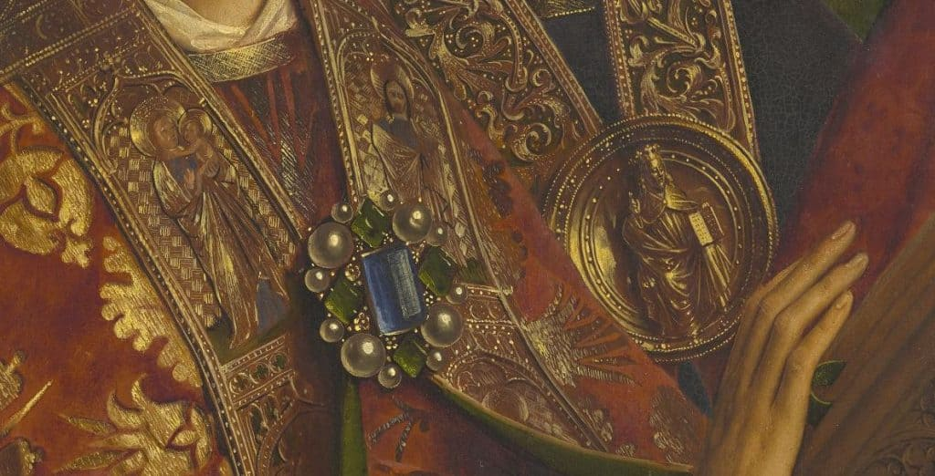 Lam Gods - engelen detail