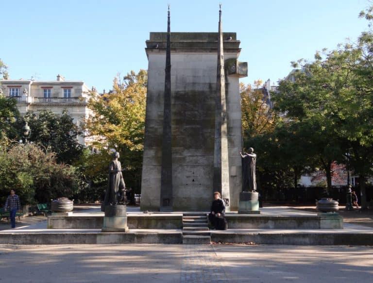 Monumenten in Parijs - Rechten van de Mens
