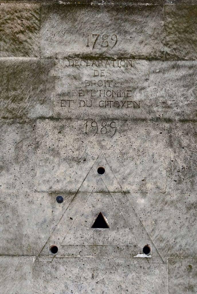 Parijs-Monument rechten van de Mens