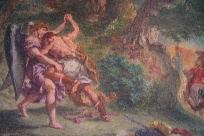 Jacob vecht met engel