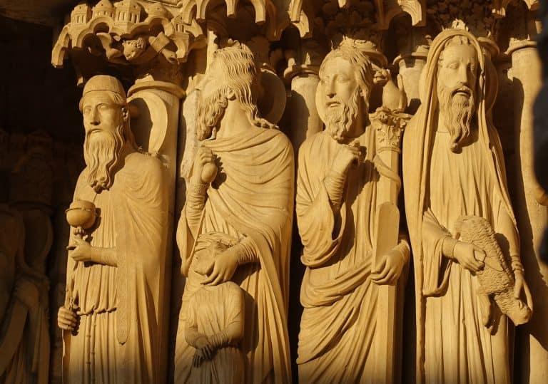Chartres - beelden noordportaal