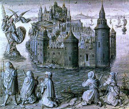 Mont saint Michel als bedevaarstplaats