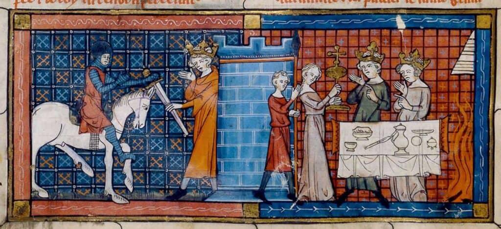 Scene uit Parzival en de graal