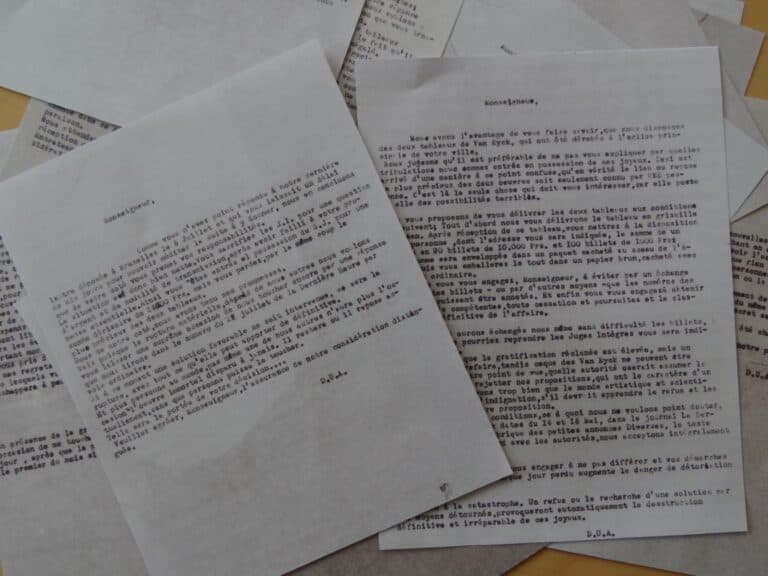 Rechtvaardige Rechters, chantagebrieven
