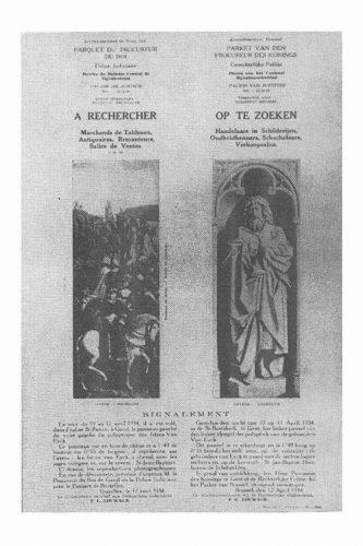 Opsporingsbericht 1934