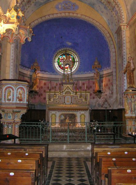 overzicht kerk rennes le chateau