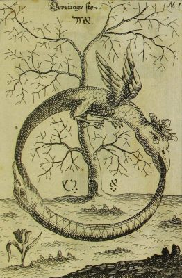 Ouroboros, slangen vormen cirkel